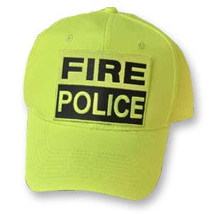TheFireStore Fire-Police Hat, Hi-Vis Neon Yellow