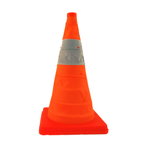Cortina Safety Products Pack and Pop Collapsible High-Vis Cones, Set of Five Cones with Carrying Case