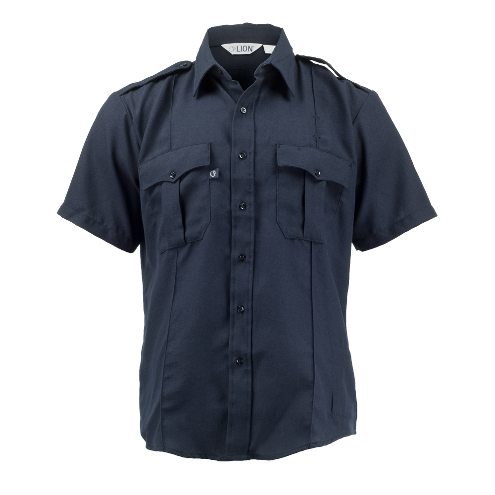 LION StationWear Bravo Short Sleeve Uniform Shirt, NOMEX IIIA