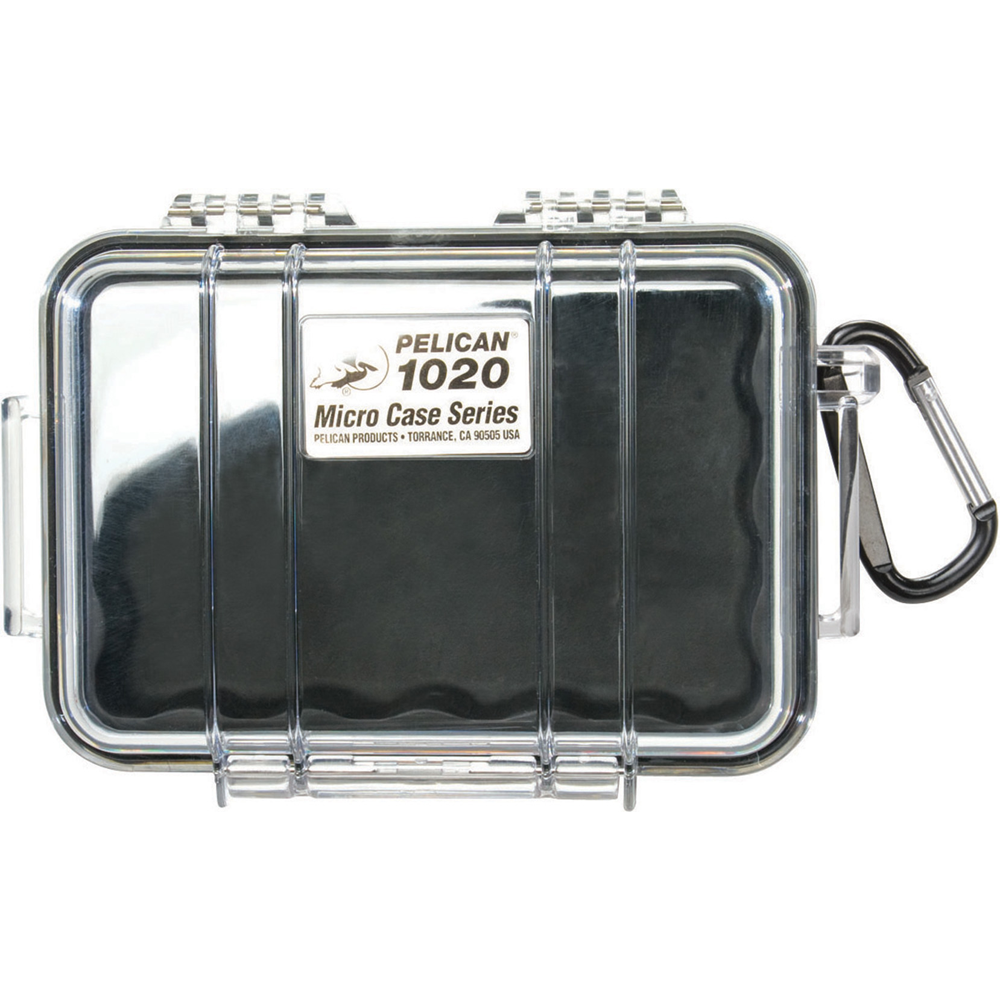 Pelican Micro Case, Model 1020, Black w/Clear Case