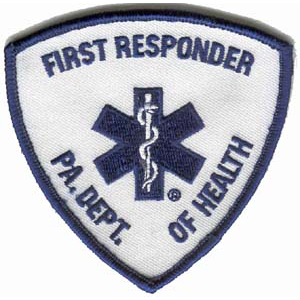 PA State First Responder Embroidered Patch