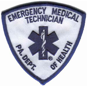 PA State Emergency Medical Technician Embroidered Patch
