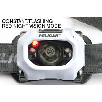 Pelican 2760 LED Headlight, 3 AAA Batteries, 204 Lumens, 2.25� Long