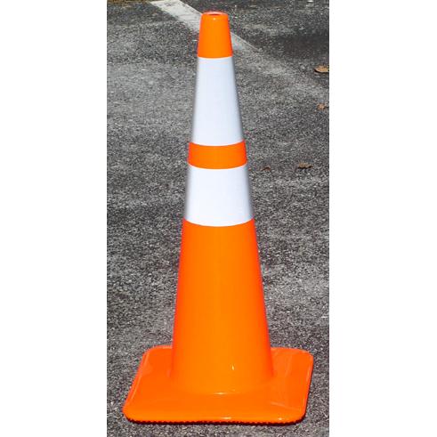 TheFireStore Traffic Safety Cone, Tri-Glo Series, 28