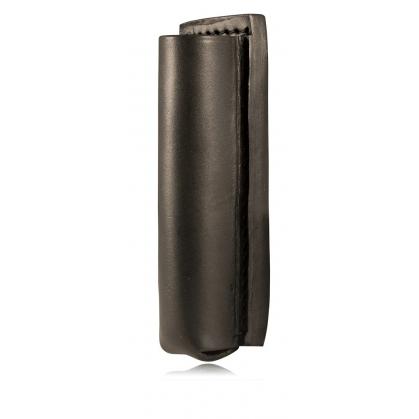 Boston Leather Open-Top Flashlight/Collapsible Baton Holder