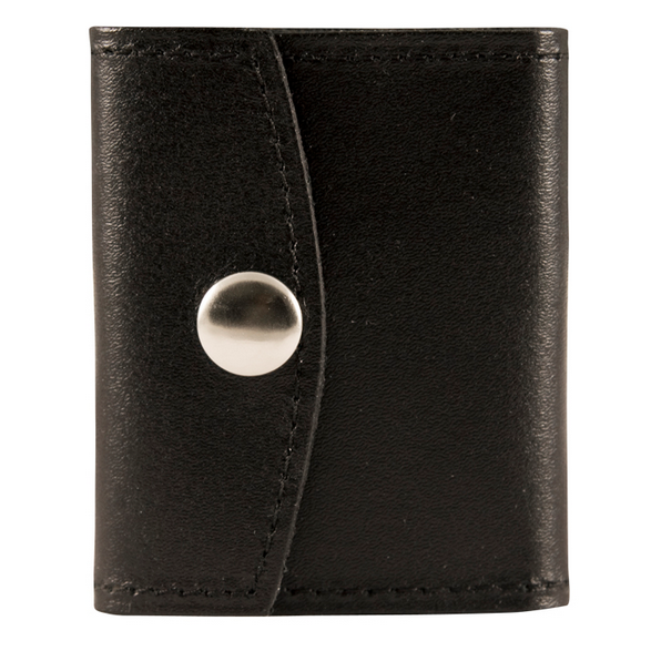 Boston Leather Badge Tri-Fold Case
