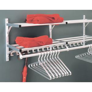 Wall Mounted Coat Rack  w/ Hook Strip, 2 racks, & Hanger Bar