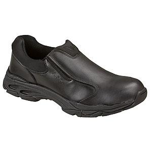 Thorogood ASR Black Leather Slip-On Shoe with Safety Toe