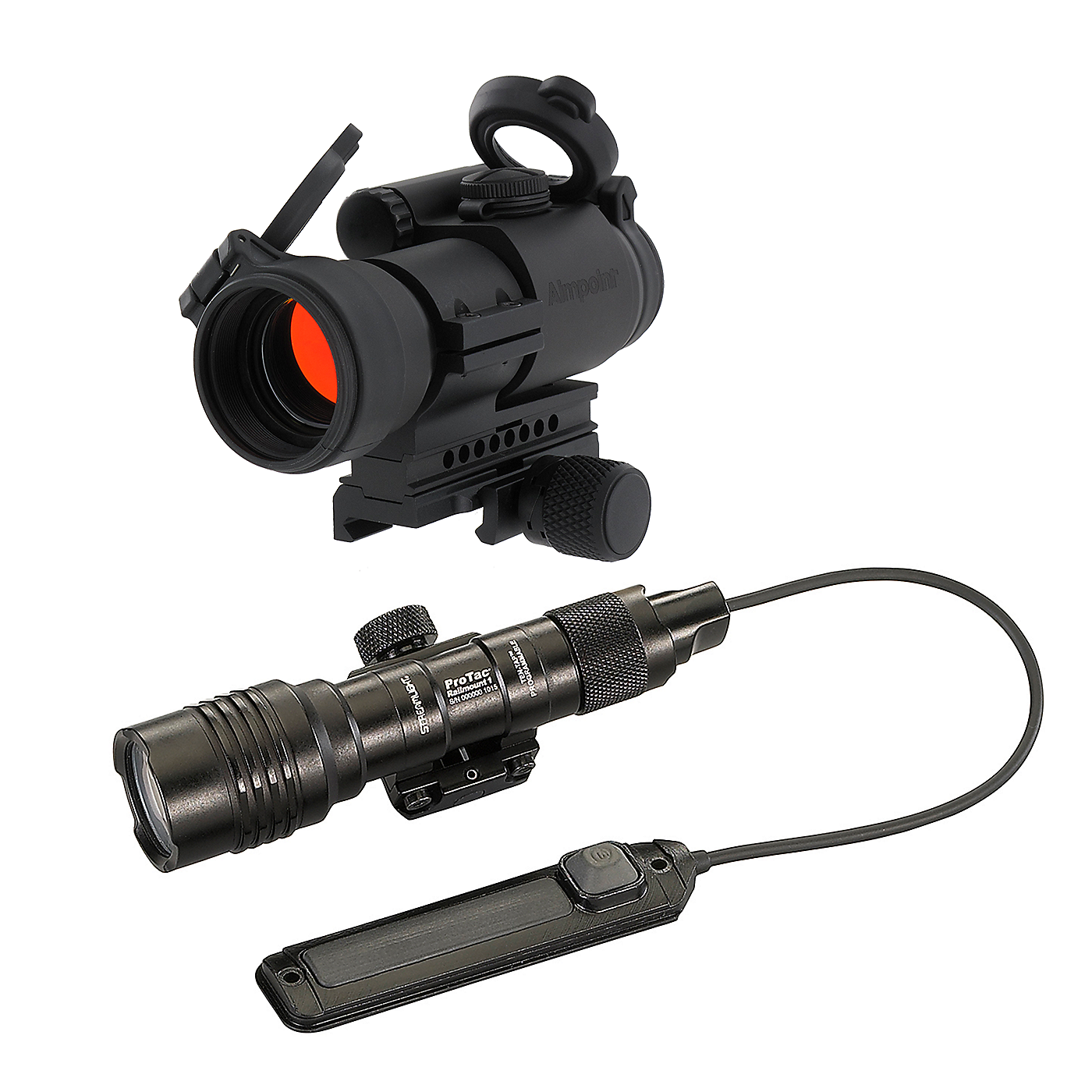 Aimpoint PRO 2MOA Dot and Streamlight ProTac Railmount 1