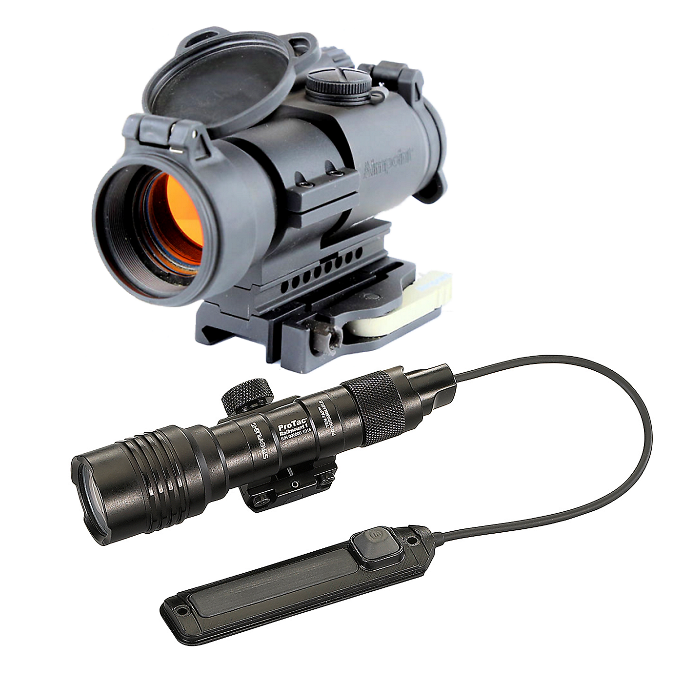 Aimpoint PRO with LRP Mount and Streamlight ProTac Railmount 1