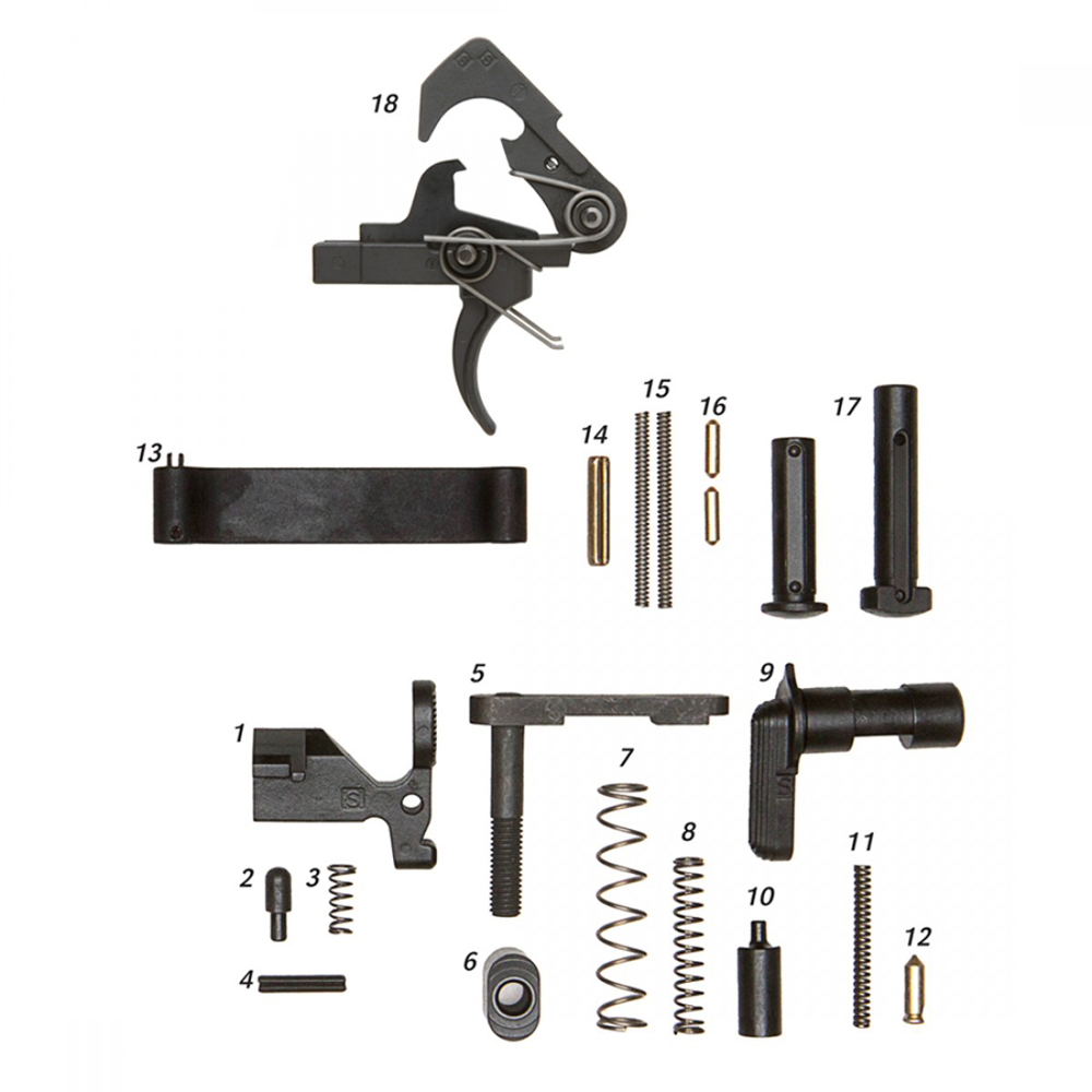 ALG Defense Complete Lower Parts Kit with QMS Trigger