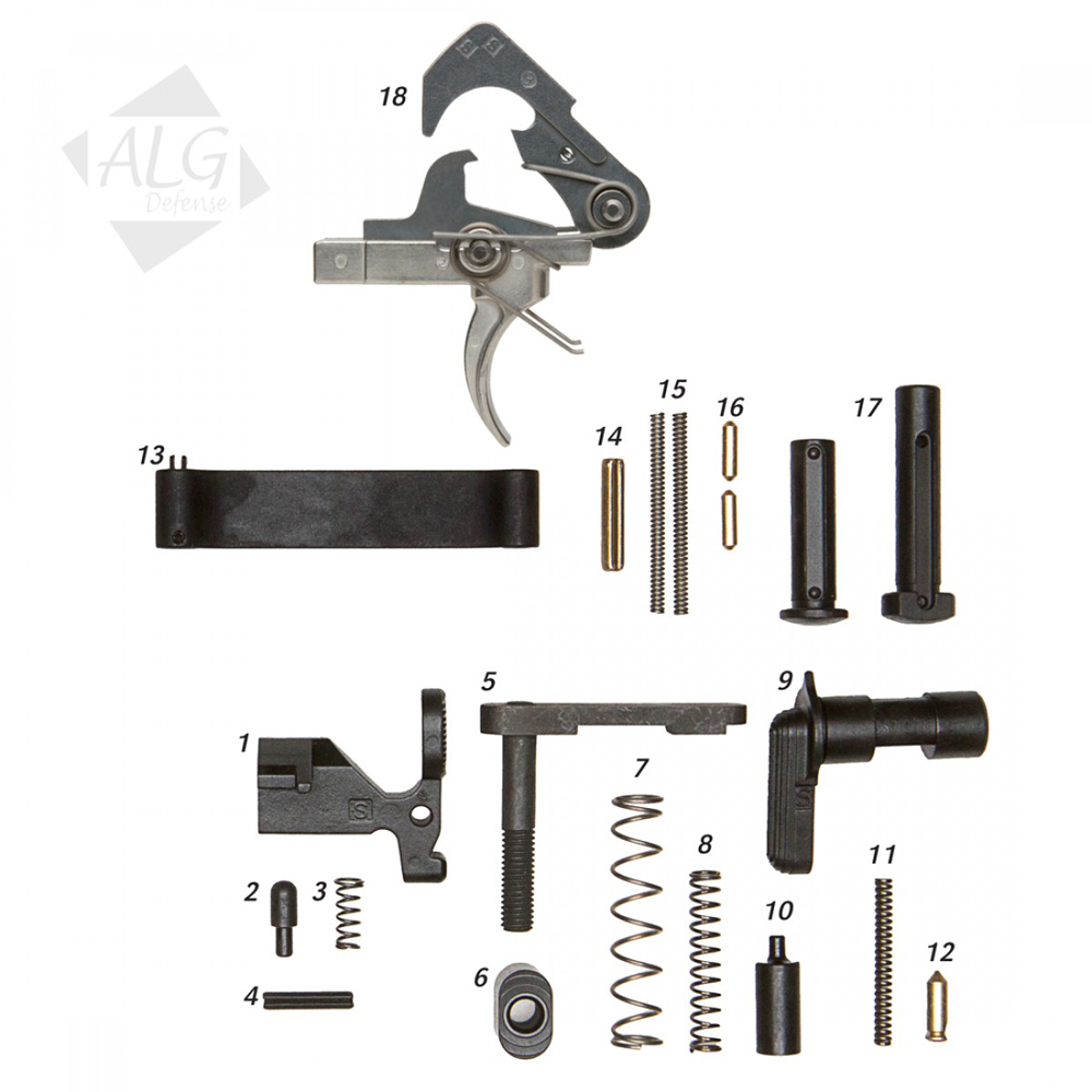 ALG Defense Complete Lower Parts Kit with ACT Trigger