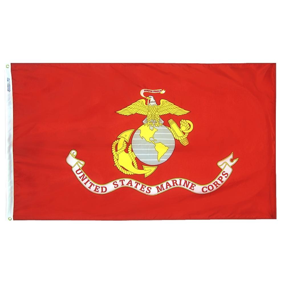 Annin Flagmakers US Marine Corps 3' x 5' Nyl-Glo Military Flag