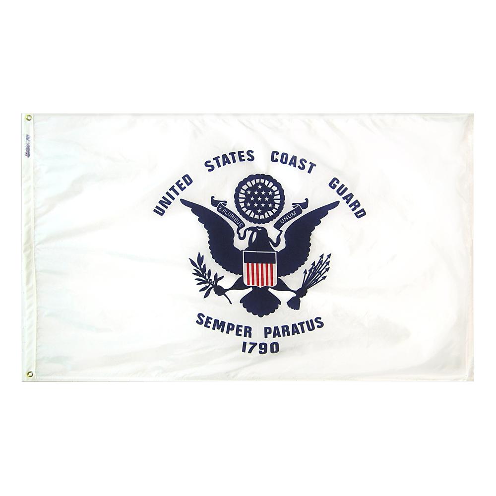 Annin Flagmakers US Coast Guard 3 x 5' Nyl-Glo Military Flag