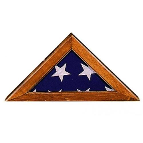 Annin Walnut Commemorative Flag Case w/ Plexiglass