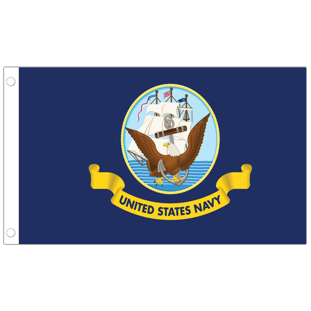 Allied Products Navy Stick Flag