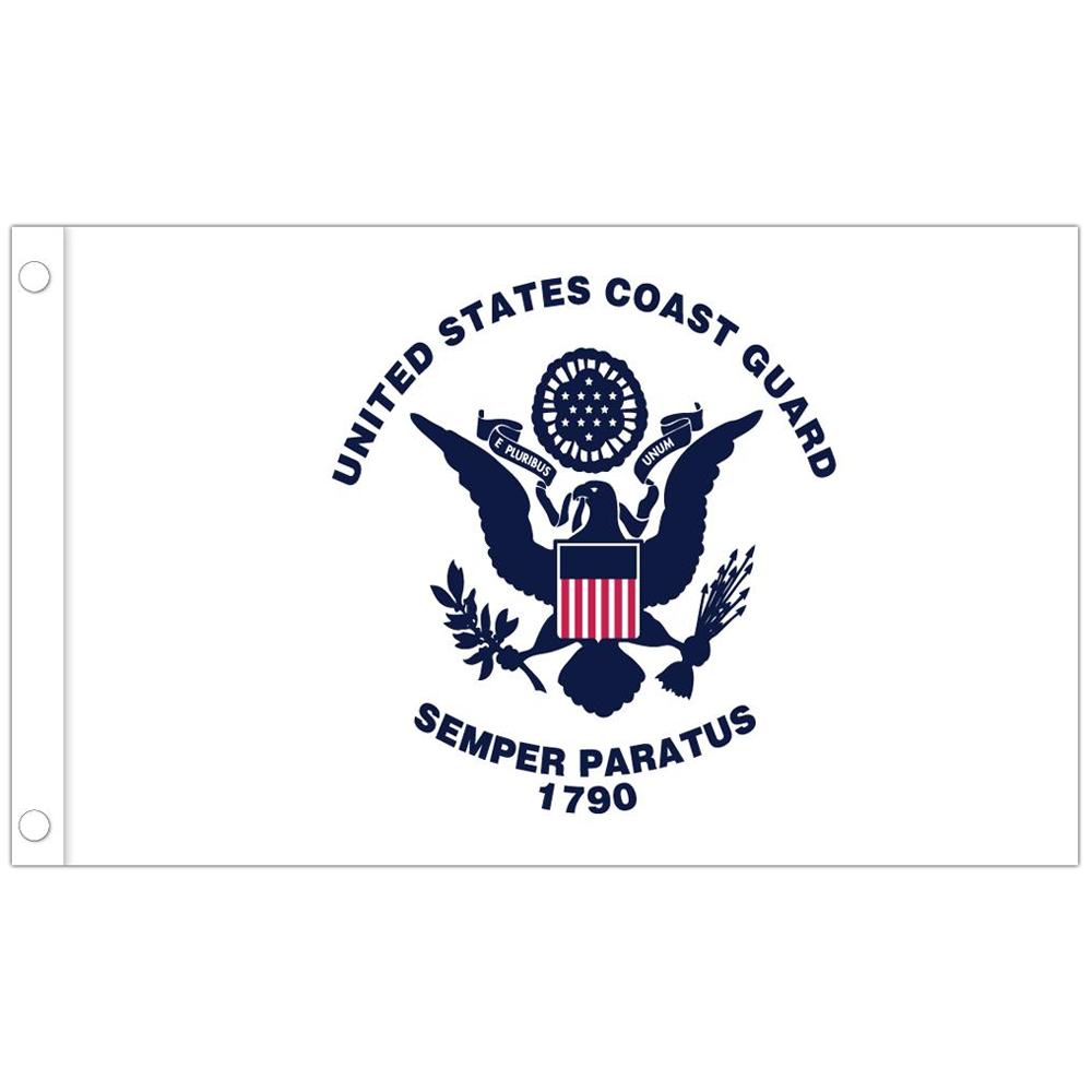 Allied Products Coast Guard Stick Flag