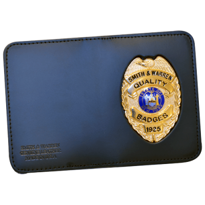 Leather Book Style Case, Double ID w/ Outside Badge Mount