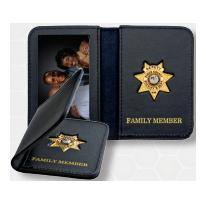 Smith & Warren Mini Badge & ID Holder w/Gold Imprint