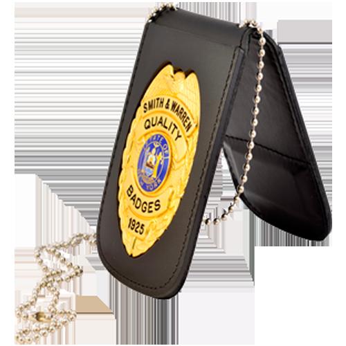 Smith & Warren Recessed Badge & ID Holder w/Chain