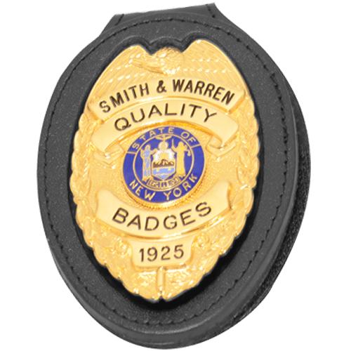 Smith & Warren Recessed Badge Holder with Metal Belt Clip