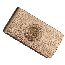 Blackinton Money Clip with Raised Maltese Cross Emblem