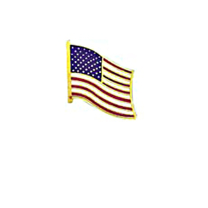 Blackinton Proud to Be American Waving American Flag Pin