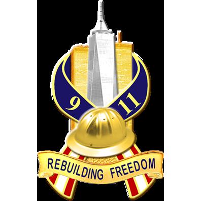 Blackinton 9-11 Rebuilding Freedom Pin
