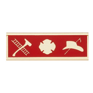 Blackinton Commendation Bar Maltese Cross with Fire Scramble