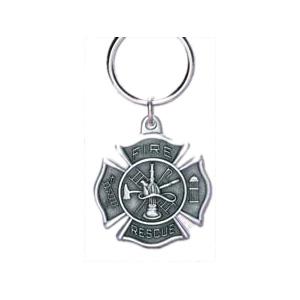 Blackinton Fire-Rescue Keychain, Pewter