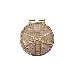 Blackinton Fire Scramble Medallion Money Clip