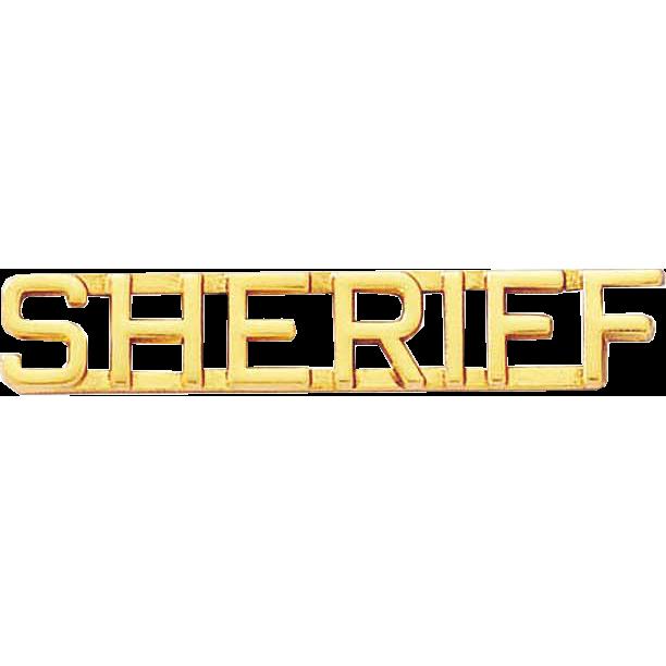 Blackinton Sheriff Letter Combination Pin