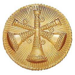 Smith & Warren Three Bugles (Assistant Chief) Medallion