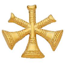 Smith & Warren 3 Crossed Bugles Hat/Shield Medallion