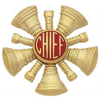 Hat/Shield Medallion, 5 Crossed Bugles w/Chief in Center, Di-Cut