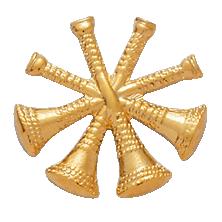 Smith & Warren 4 Crossed Bugles Hat or Shield Medallion