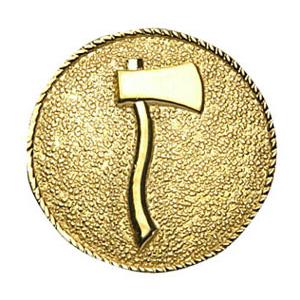 Collar Insignia 1 Axe Facing Right, Gold Finish