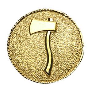 Collar Insignia 1 Axe Facing Left, Gold Finish