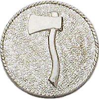 Smith & Warren Collar Insignia, 1 Axe Facing Left