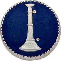 Smith & Warren Collar Insignia, 1 Bugle w/Blue Enamel
