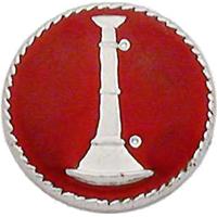 Smith & Warren Collar Insignia, 1 Bugle w/Red Enamel