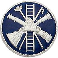 Smith & Warren Collar Insignia, Firefighter Scramble w/Blue Enamel