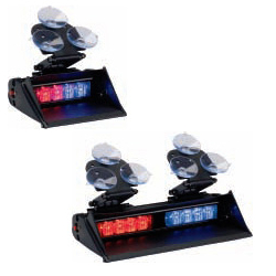 Code 3 XT4 LED Visor Light, Suction Mount