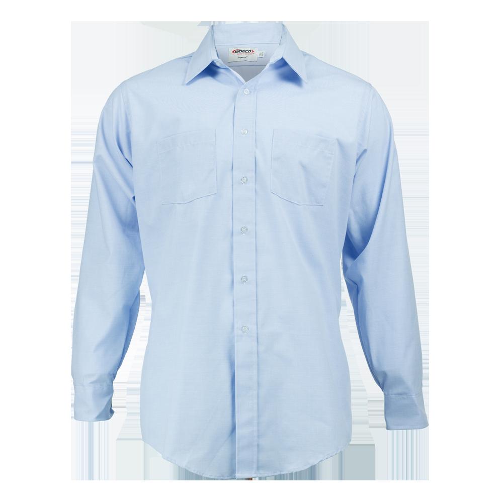 Elbeco Men's Long Sleeve Express Dress Shirt, Light Blue
