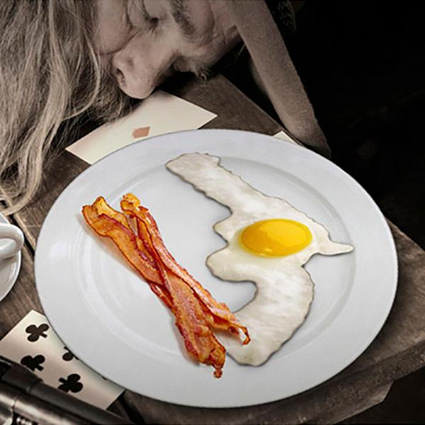 Caliber Gourmet Fired Eggs Egg Mold, Black