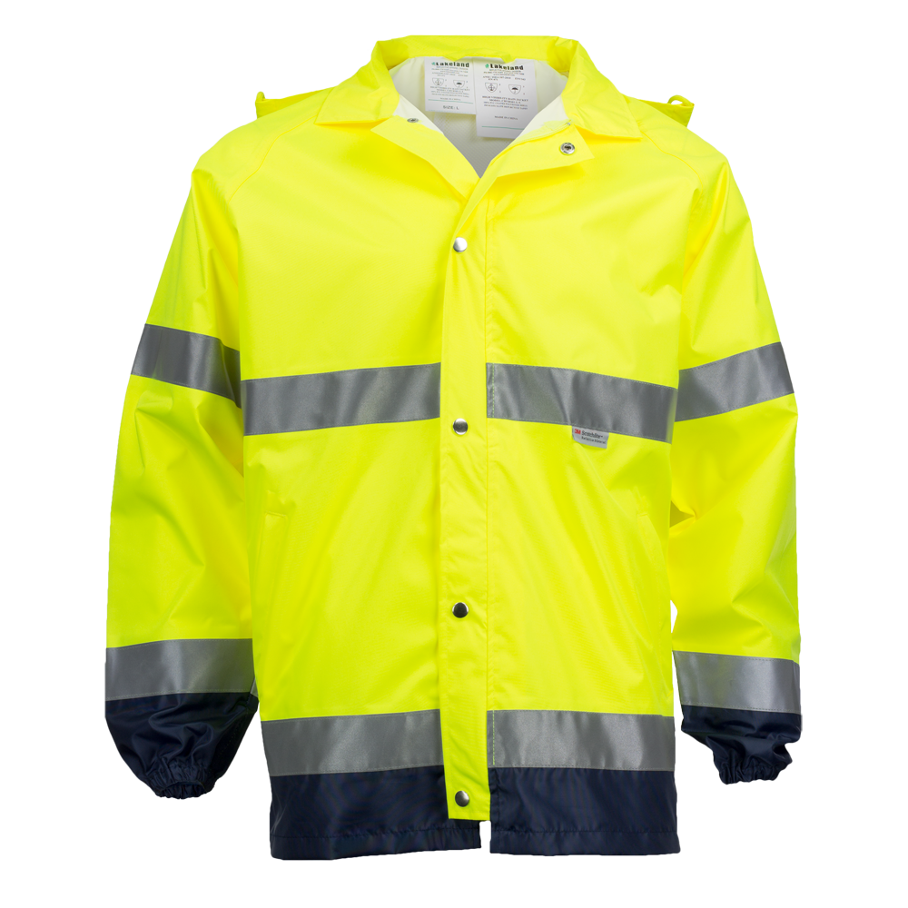 Rain Jacket w/ Reflective Trim, ANSI 107-1999 Class 3