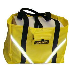 Avon Cribbing Bag, Yellow with Reflective Trim