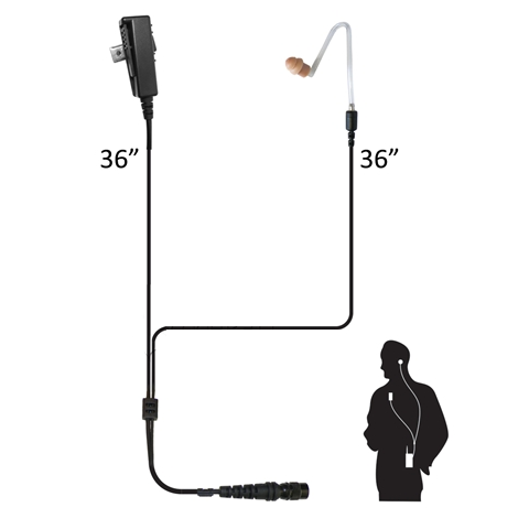 Code Red ComPro Gold Level Two Wire Surveillance  Microphone w/Quick Disconnect