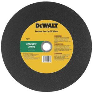 Dewalt Masonry Portable Saw Wheels
