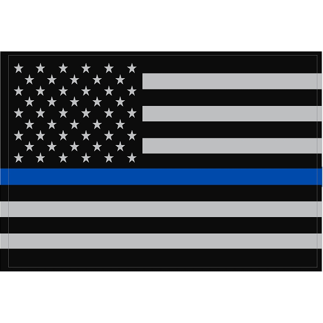 Exclusive Reflective Subdued Thin Blue Line U.S. Flag Decal